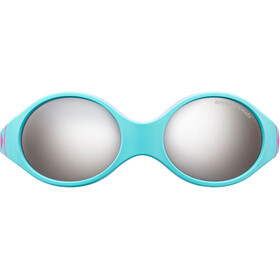 Julbo Loop Spectron 4 Sunglasses Baby 2-4Y Turquoise/Gray/Fluorescent Pink-Gray Flash Silver
